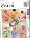 McCalls 2548 Baby Clothes Pattern UNCUT