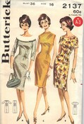 Butterick 2137 Princess Sheath Dress Sewing Pattern UNCUT