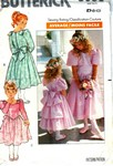 Butterick 3038 Girl's Party Dress Pattern UNCUT