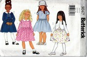 Butterick 3047 Girls Jacket and Dress Pattern UNCUT