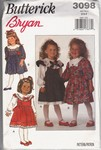 Butterick 3098 Girls Party Dress Pattern UNCUT