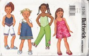 Butterick 3106 Girls Dress Top Shorts Pants Pattern UNCUT