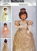 Butterick 3115 Doll Clothes Pattern Bride Royal Ballet UNCUT