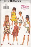 Butterick 3129 Retro '67 Girls Dress Pattern UNCUT