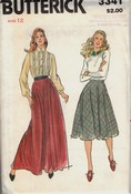 Butterick 3341 Vintage Skirt Pattern Two Lengths UNCUT