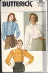 Butterick 3424 Blouse Sewing Pattern UNCUT