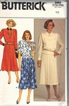 Butterick 3463 Size 10 Top and Skirt Pattern UNCUT