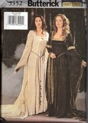 Butterick 3552 Medieval Dress Pattern UNCUT