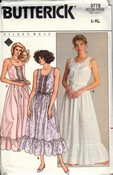 Butterick 3778 Eileen West Nightwear Pattern Uncut
