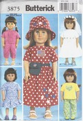 Butterick 3875 Doll Clothes Pattern NEW American Girl