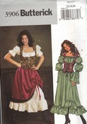 Butterick 3906 Gypsy Costume Pattern Large UNCUT