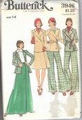 Butterick 3946 Jacket Skirt Pants Vintage Pattern UNCUT