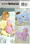 Butterick 4090 Baby Doll & Clothes Pattern