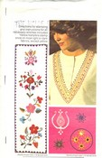 Butterick 4106 Ethnic Embroidery Transfers Pattern UNCUT