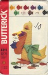 Butterick 4311 Pelican Teaching Toy Pattern