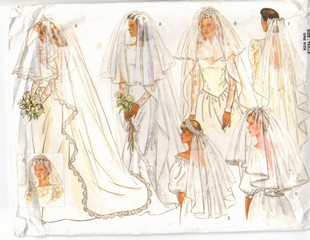 Butterick 4649 Wedding Veil Pattern Many Styles