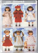 "Butterick 4699 18"" Doll Clothes Pattern NEW UNCUT American Girl"