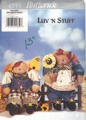 "Butterick 4755 Luv ""N Stuff Honey Bear Sewing Pattern UNCUT"
