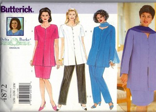 Butterick 4872 Delta Burke Dress Pattern UNCUT