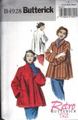 Butterick B4928 Size Y Retro '52 Swing Jacket Coat Pattern UNCUT