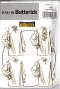 Butterick 5008 XN Misses'/Men's Historical Shirt Pattern UNCUT