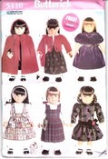 Butterick 5110 Doll Clothes Wardrobe Pattern Uncut