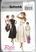 Butterick 5214 F5 Retro '47 Sundress Jacket Pattern UNCUT