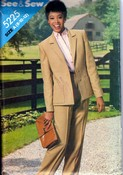 See Sew 5225 Jacket Pants Pattern UNCUT