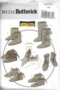 Butterick 5233 Historical Footwear Pattern UNCUT