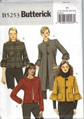 Butterick 5253 Size F5 Coat Jacket Sewing Pattern UNCUT