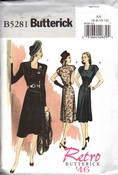 Butterick AA B5281 Retro '46 Sophisticated Dress Pattern UNCUT
