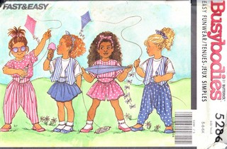 Butterick 5286 Childrens Outfit Pattern Vintage UNCUT