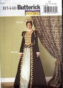 Butterick B5440 Queen Royal Costume Pattern Large UNCUT