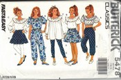 Butterick 5478 Separates Ruffles Small Sewing Pattern