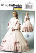 Butterick B5543 Civil War Gown Pattern NEW