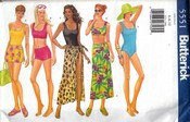 Butterick 5551 Swimsuit Sewing Pattern UNCUT