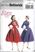 Butterick 5556 FF Retro '55 Dress Pattern UNCUT