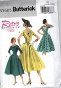 Butterick 5605 Size FF Retro '56 Dress Pattern UNCUT