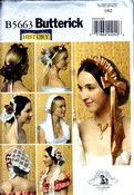 Butterick 5663 Six Historical Headpieces Pattern UNCUT