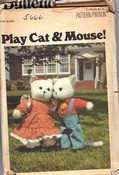 Butterick 5666 Vintage Play Cat Mouse Pattern UNCUT
