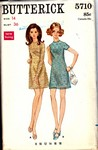 Butterick 5710 Size 14 Vintage Mini Dress Pattern UNCUT