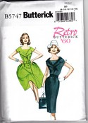 Butterick 5747 Retro '60 Dress Pattern B5 Uncut