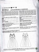 Butterick 5832 Costume Pattern UNCUT E5 19th Century