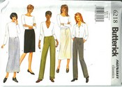 Butterick 6218 Skirt Pants Pattern UNCUT