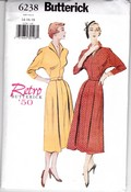 Butterick 6138 Retro' 50 Dress Pattern Large Uncut