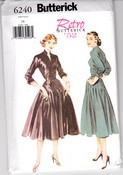 Butterick 6240 Retro '52 Dress Pattern 16 UNCUT