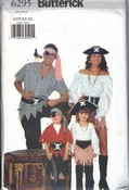 Butterick 6295 Pirate Costume Sewing Pattern UNCUT