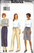 Butterick 6350 Skirt Pants Pattern UNCUT