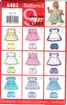 Butterick 6483 Infant Pinafore, Dress Panties Pattern
