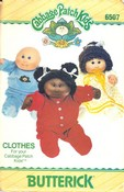 Butterick 6507 Cabbage Patch Clothes Pattern UNCUT